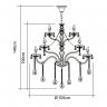 140240016 lustre nice 28 bracos transparente desenho tecnico web