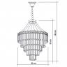 140140003 lustre florenca led cromado desenho tecnico web